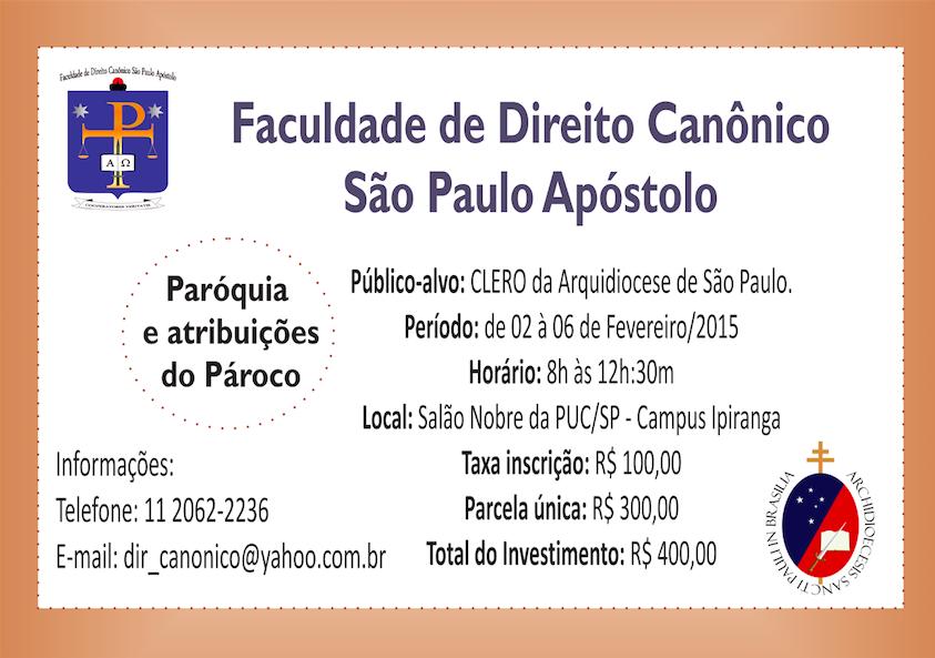 Faculdade de Direito Canônico São Paulo Apóstolo