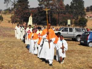 África do Sul - Procissão com a imagem Peregrina de Nossa Senhora de Fátima