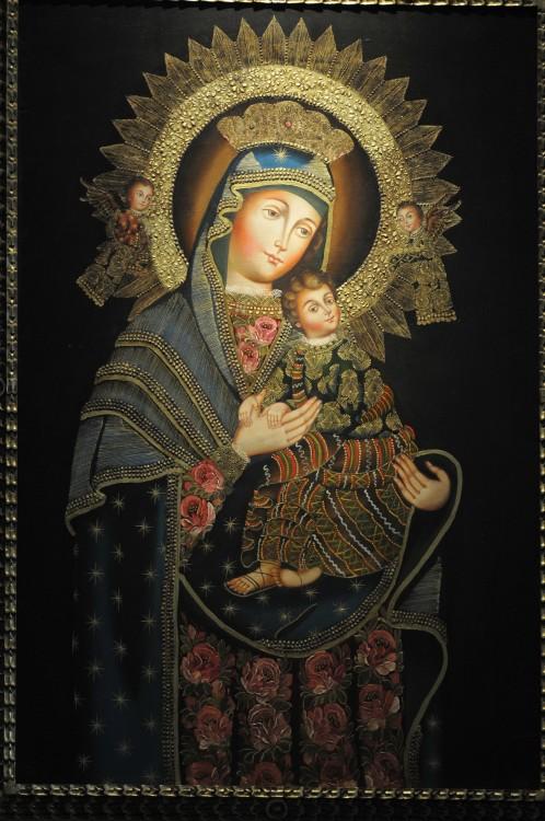 Quadro de Nossa Senhora que se encontra no Centro Juvenil