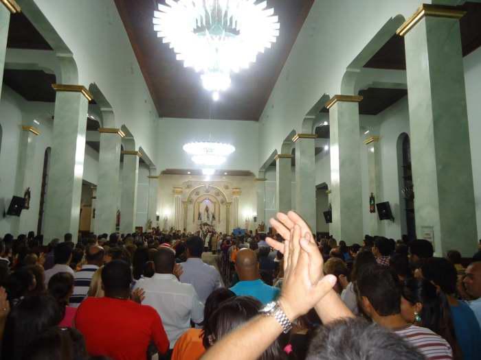 Chegada da Imadem Peregrina à igreja de Nossa Senhora do Rosário