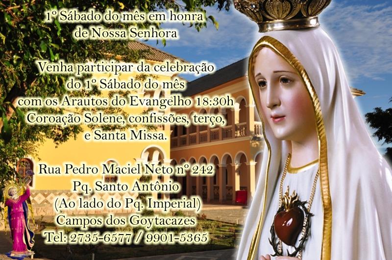 Convite Especial: Primeiros Sábados em louvor de Nossa Senhora