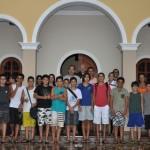 Pais e filhos no Centro Juvenil dos Arautos do Evangelho