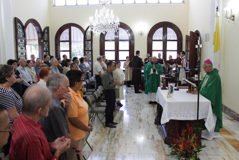 Misa en la Nunciatura Apostólica de Costa Rica