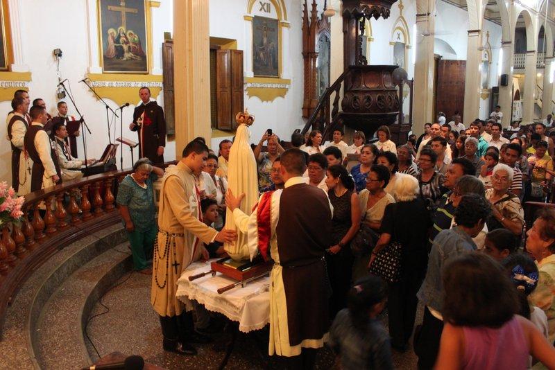 Visita de la Imagen de la Virgen a Chinandega, Nicaragua