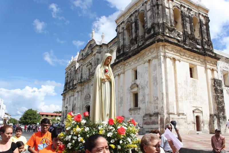 Visita de la Imagen Peregrina a León, Nicaragua