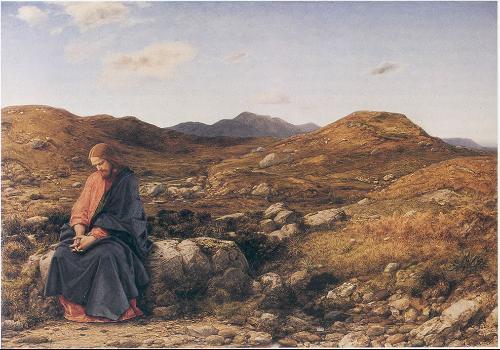 """""""El Hombre de Dolores"""" de William Dyce, que ilustra el ayuno de 40 días realizado por Jesucristo."""