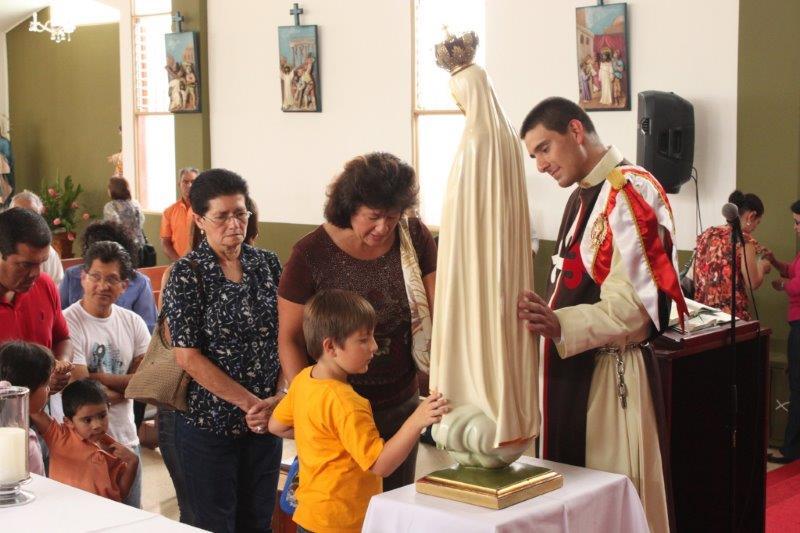Visita de la imagen peregrina a la Parroquia de San Rafael, Montes de Oca