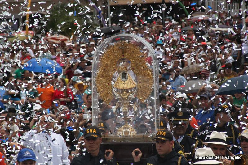 Misa de recibimiento de la Virgen de los Ángeles en su Santuario