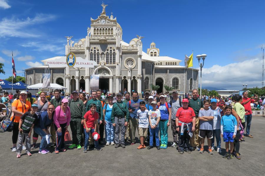Basílica, Virgen de los Angeles, Romería, familias, rapaces, Cartago, Costa Rica