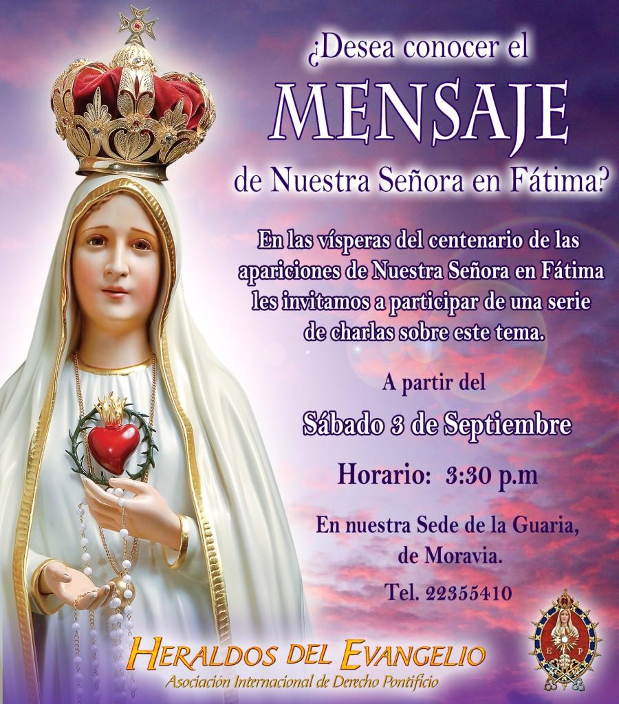 Curso, Mensaje de Nuestra Señora en Fátima