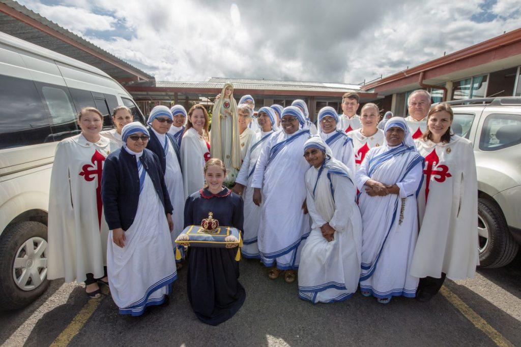 Virgen de Fátima visita a las Hermanas de la Caridad de la Madre Teresa de Calculta