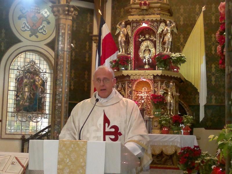 Misa en la Basílica de la Virgen de los Ángeles