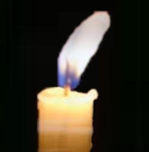 O azul da chama