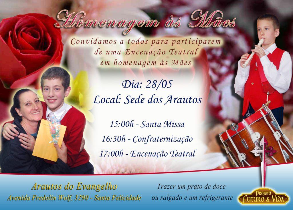 Convite – Comemoração de Dia das Mães