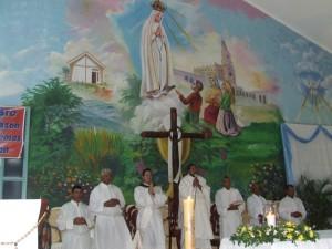 Misa en la Parroquia Ntra. Sra. de Fátima en Maizal