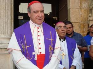 Su Eminencia Reverendísima Nicolas de Jesús Cardenal Lopez Rodriguez, Arzobispo Metropolitano de Santo Domingo, Cardenal Primado de América y Presidente de la Conferencia Episcopal Dominicana.