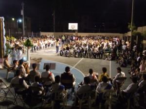 El Campus del Colegio estaba lleno.