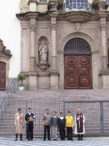 Visitando la Basílica Nuestra Señora del Carmen, local muy simbólico para los Heraldos del Evangelio