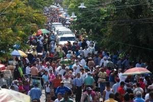 Una de las varias procesiones que se hicieron en todo el país en honor a Ntra. Sra. de las Mercedes
