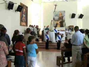 La Coronación se realizó durante la celebración de la Eucaristía.