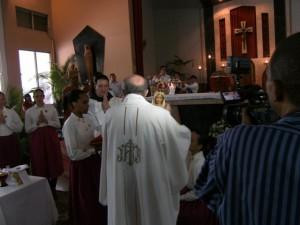 La imagen de Nuestra Señora fue coronada por el Padre Alonso Beato.