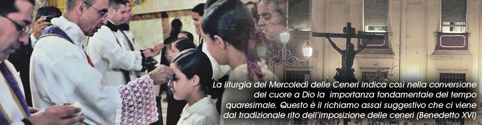 Cerimonia delle ceneri nella Basilica del Rosario (Brasil)