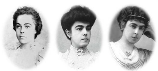 Donna Lucilia a 16 anni; nel 1906 poco