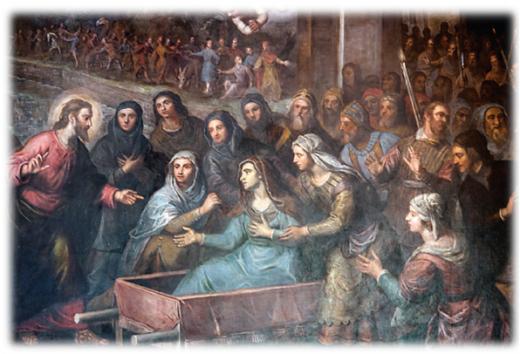 Gesù resuscita il figlio della vedova di Nain