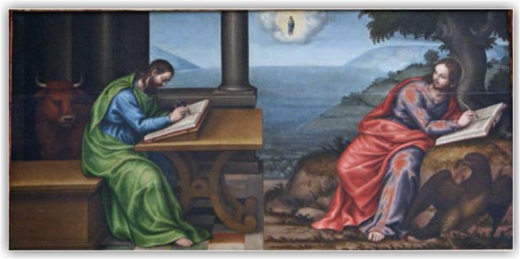 """""""Gli Evangelisti San Luca e San Giovanni"""" – Museo San Pio V, Valencia (Spagna)"""