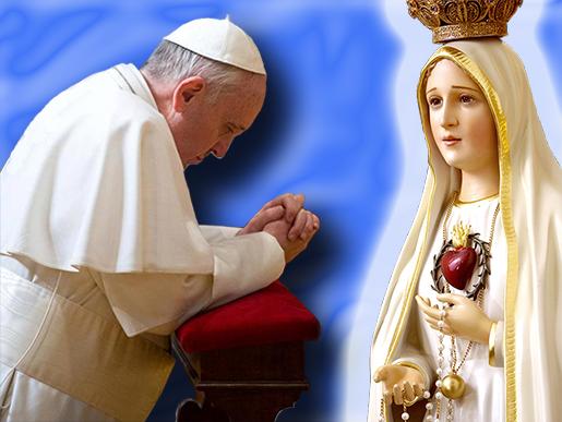 Papa consacra il mondo al Cuore Immacolato di Maria