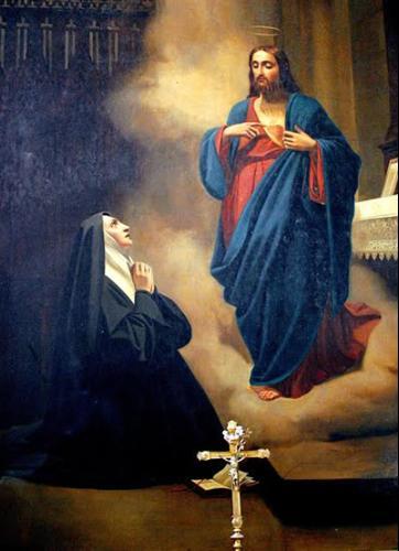 Aspetto del Sacro Cuore di Gesù a Santa Margherita Maria Alocoque - Cattedrale di Lisieux - Francia
