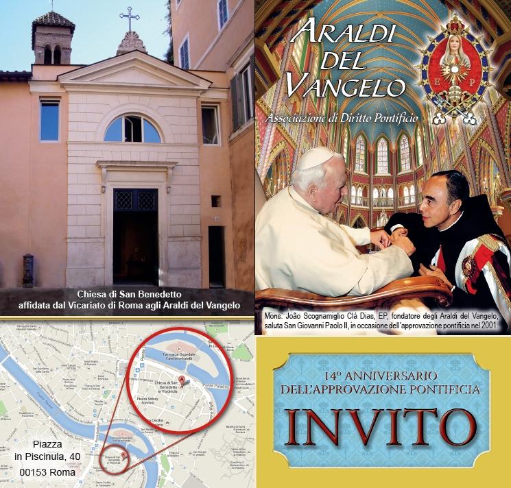 Invito Roma Araldi del Vangelo