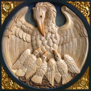Perché il pellicano è simbolo dell'Eucaristia?