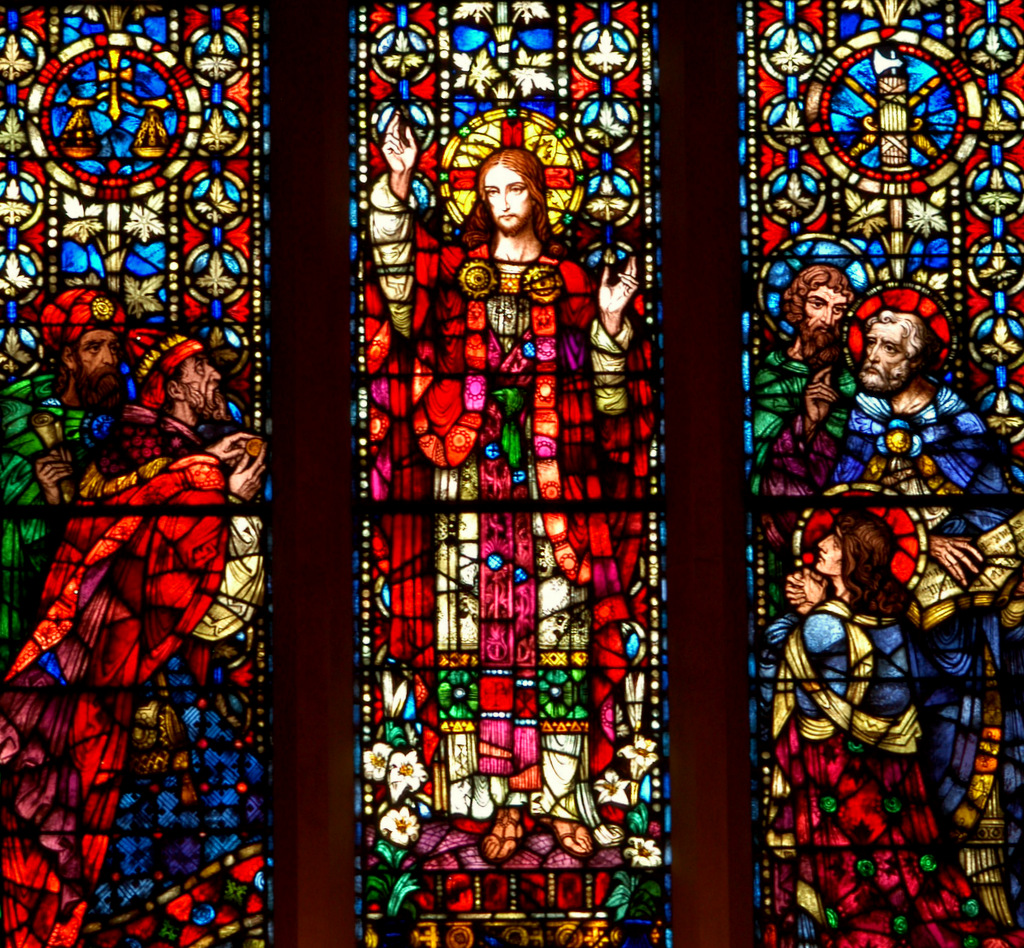 Gesù con gli Apostoli e i farisei.