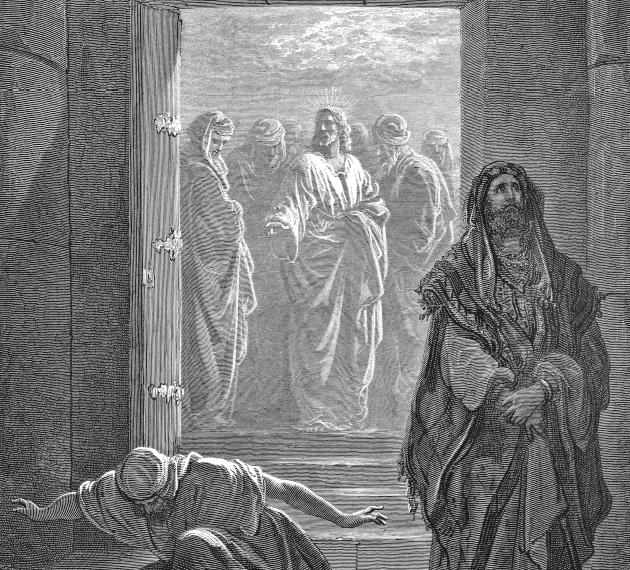 Preghiera del pubblicano e del fariseo.