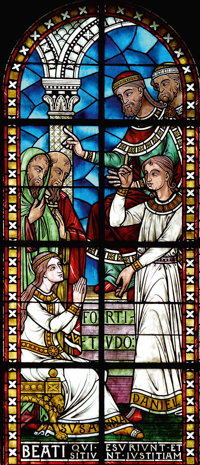 Vetrata che raffigura una delle Beatitudini – Cattedrale di Saint-Front, Périgueux (Francia)2