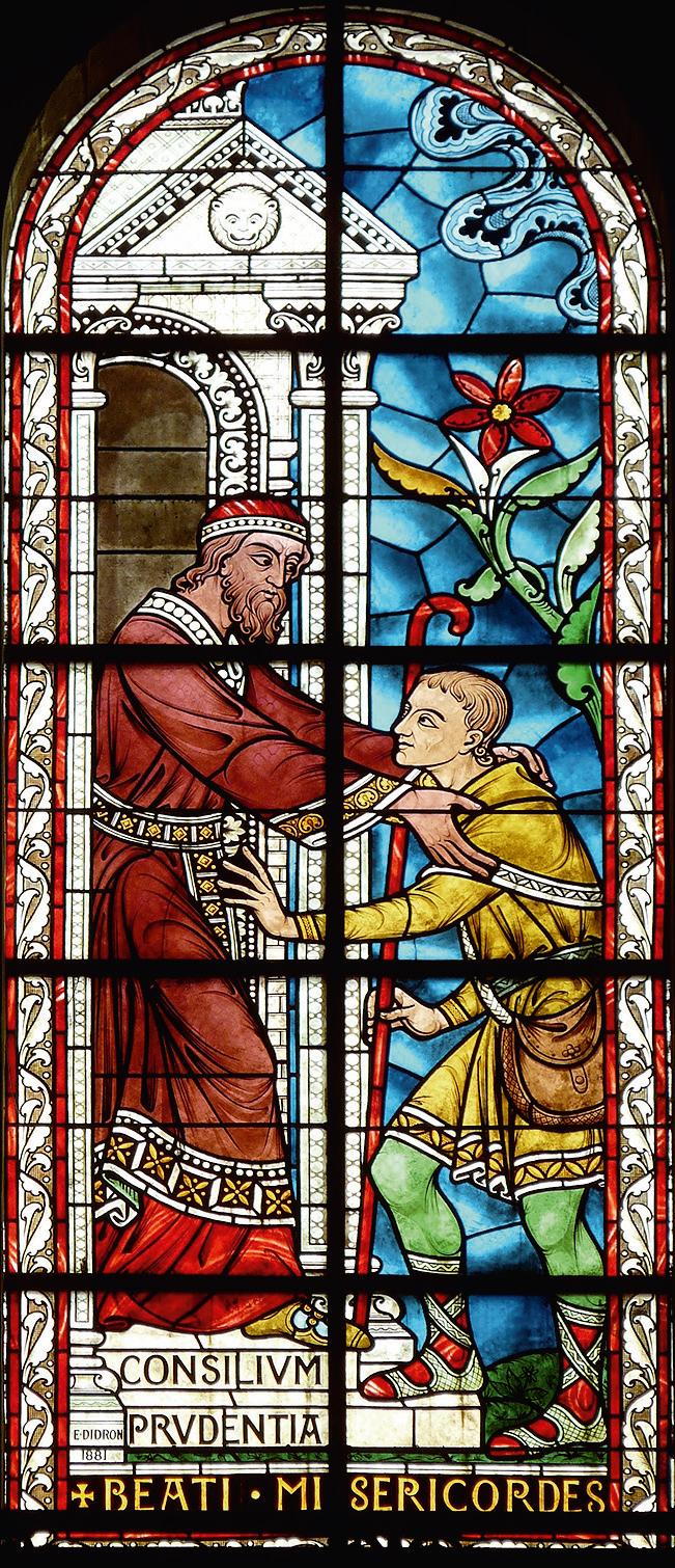Vetrata raffigurante una delle Beatitudini – Cattedrale di Saint-Front, Périgueux (Francia) 1