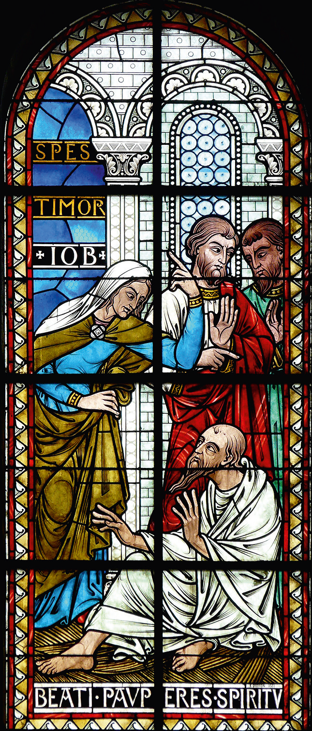 Vetrata raffigurante una delle Beatitudini – Cattedrale di Saint-Front, Périgueux (Francia)