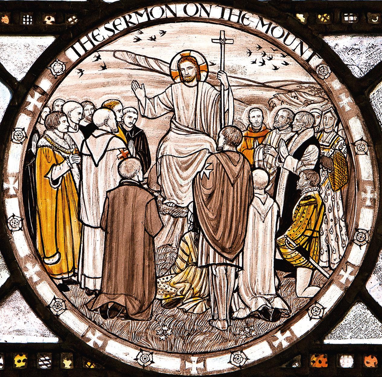 vetrata della cripta dei martiri del Convento delle monache benedettine  di Tyburn, Londra