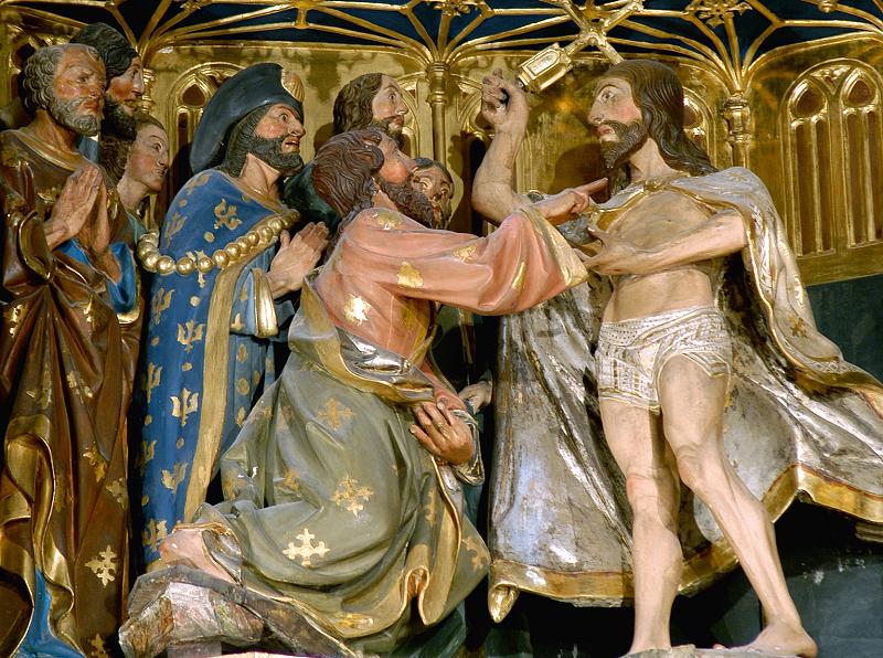 Araldi del Vangelo - Nostro Signore appare agli Apostoli – Cattedrale di Oviedo (Spagna)