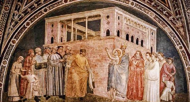 San Francesco d'Assisi rinuncia alle ricchezze terrene, di Giotto di Bondone –