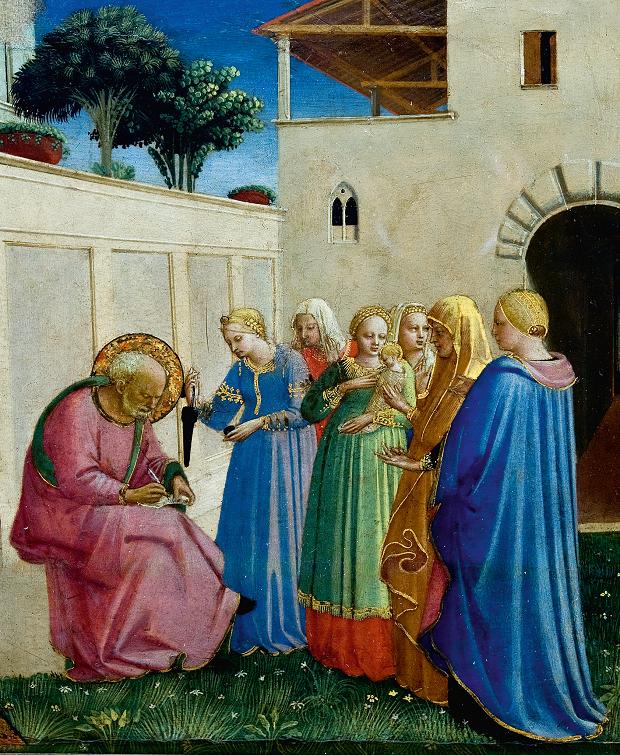 Zaccaria mentre scrive sulla tavoletta, del Beato Angelico