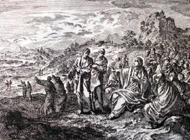 Incisione di Nostro Signore che invia gli Apostoli