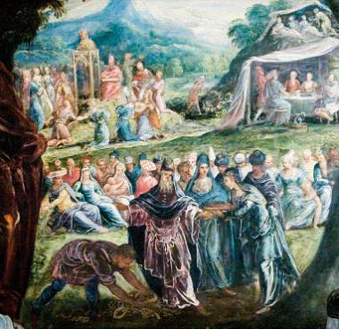 Gli Israeliti adorano il vitello d'oro