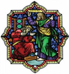 Davi é repreendido pelo profeta Natã - Catedral de Colônia, Alemanha.