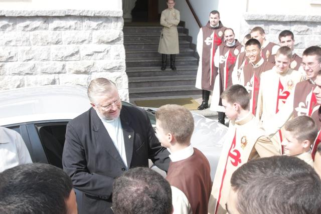 Bispo de Joinville Visita o Seminário dos Arautos do Evangelho
