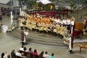 Cantata natalina na catedral de Joinville