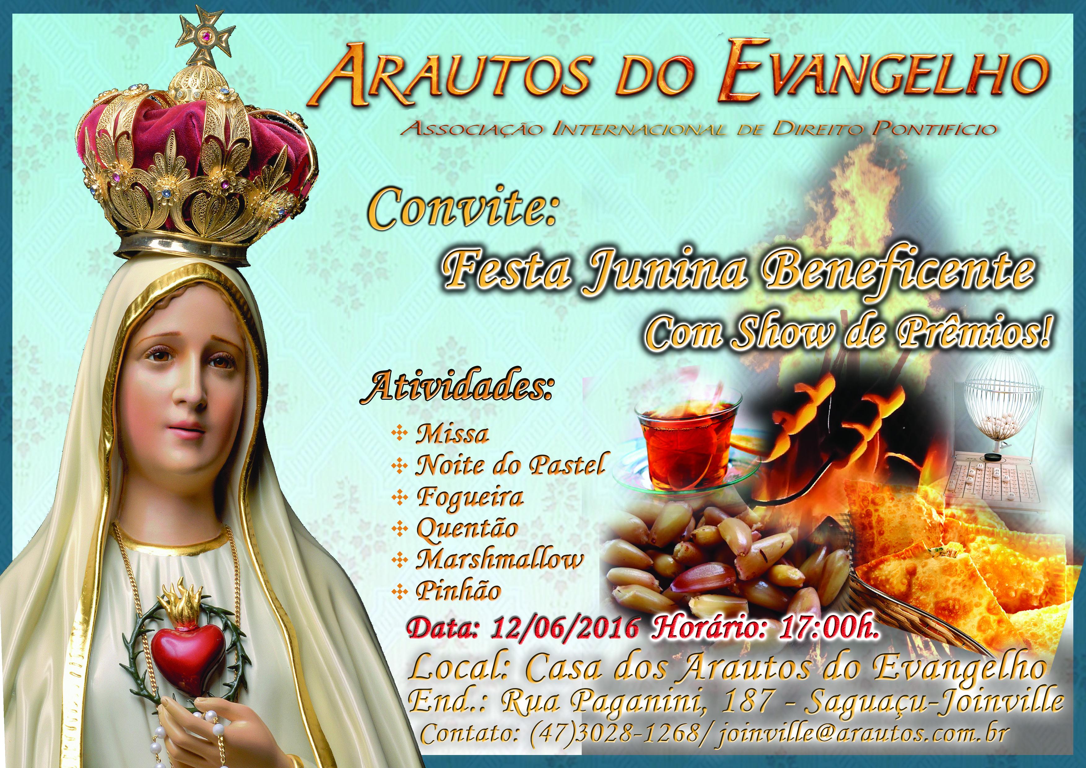 Convite festa junina 2016