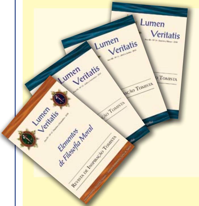 Revista Lumen Veritatis Arautos do Evangelho Tomista São Tomás de Aquino Artigos Acadêmicos