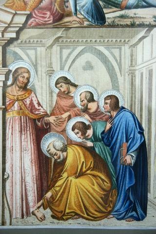 Jesus perdoa a incredulidade de São Tomé e a negação de São Pedro, exemplos do perdão de Cristo